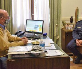 Tellechea recibió al Comisario Mayor José Ismael Gil