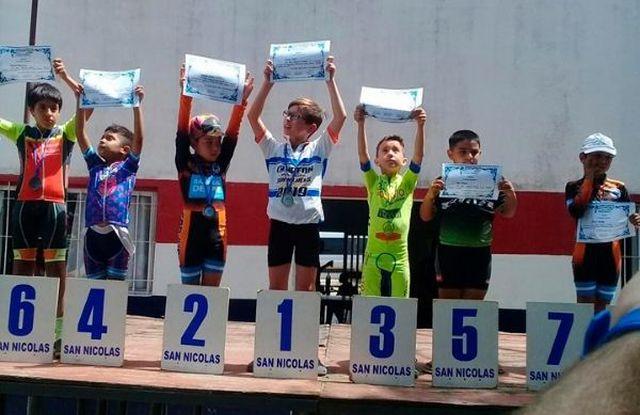 Tiene 7 años y se convirtió en campeón nacional de ciclismo