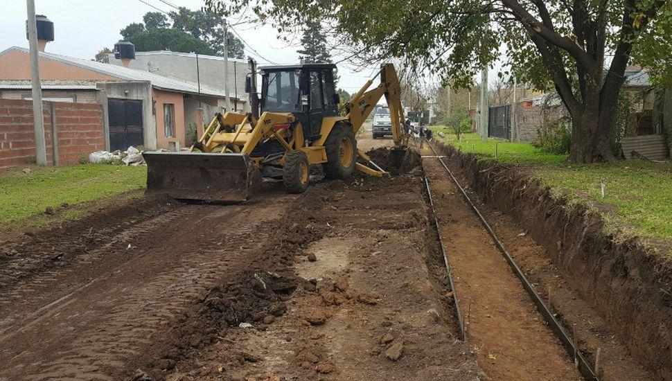 Comenzó la primera obra compartida entre vecinos y municipio