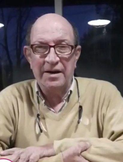 Calixto Tellechea, en el video publicado ayer.