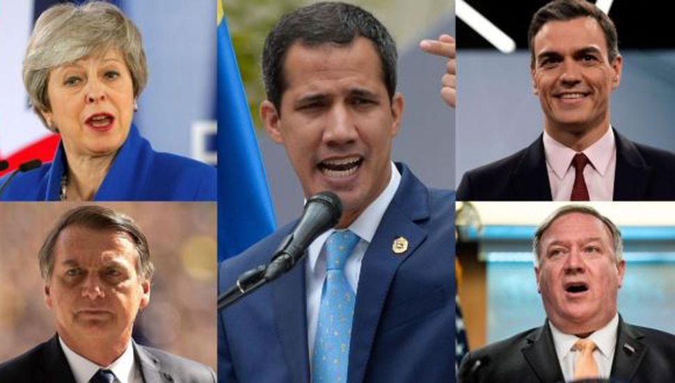 Líderes del mundo celebran y repudian el levantamiento de militares en Venezuela