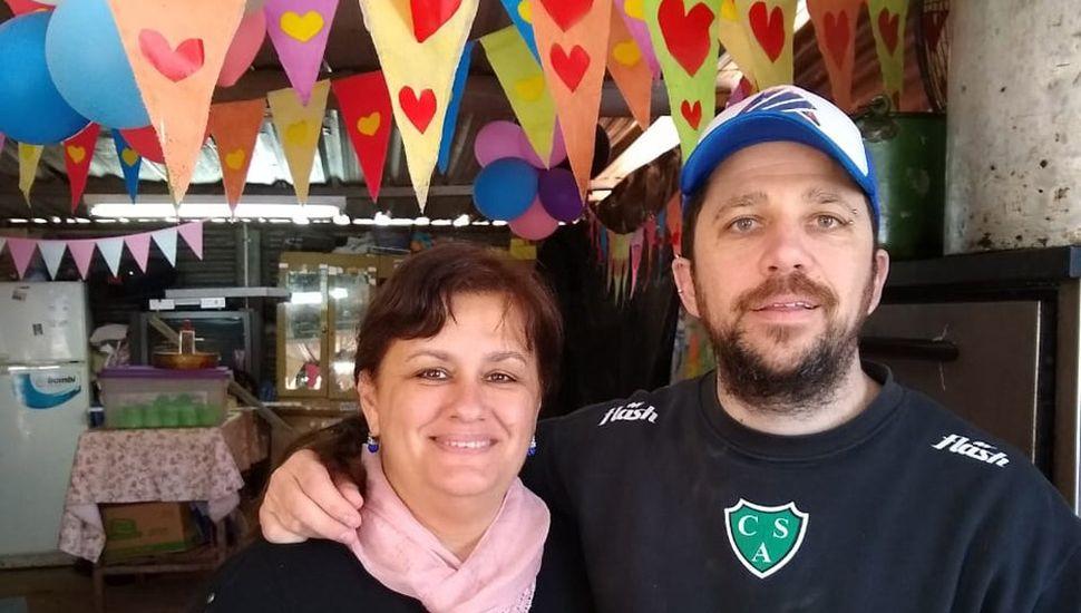 Gabriela Fioritti y Marcos Rosa.