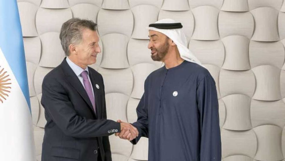 Macri cerró su gira por Asia en una reunión con el príncipe de Emiratos