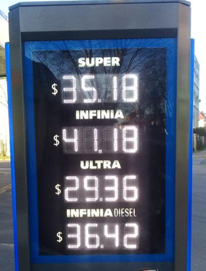 En una nueva suba, el litro de Infinia superó los $41