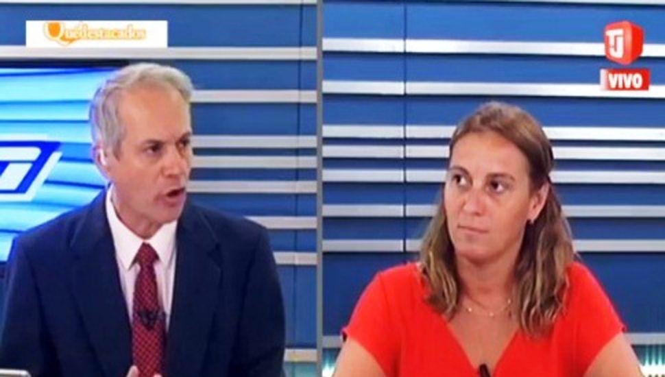 La diputada Valeria Arata, ayer, en los estudios de TeleJunín.
