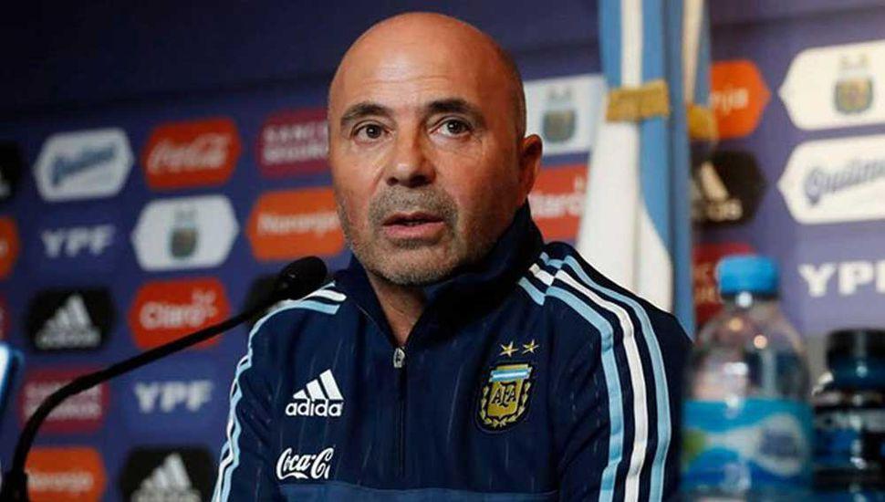 Jorge Sampaoli, DT de la Selección Argentina.