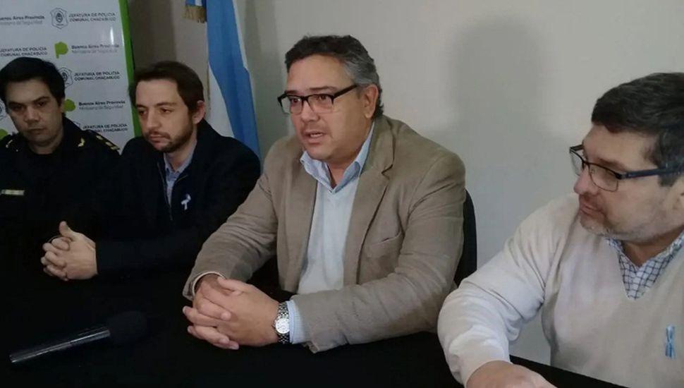 Ernesto Felice y Darío Ciminelli encabezaron la conferencia de prensa.
