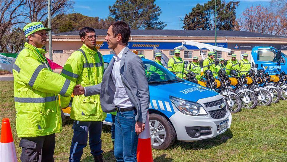 El Municipio entregó nuevos vehículos para los agentes de tránsito.