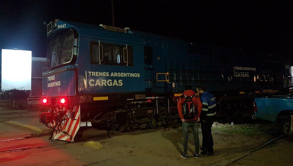 Descarriló un tren de cargas en Rivadavia
