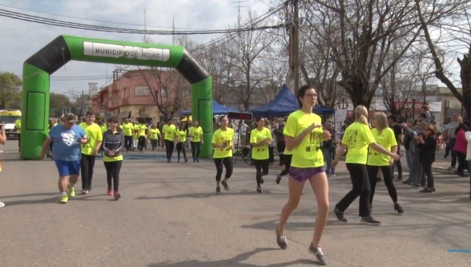 Se realizó una nueva maratón solidaria en Rojas
