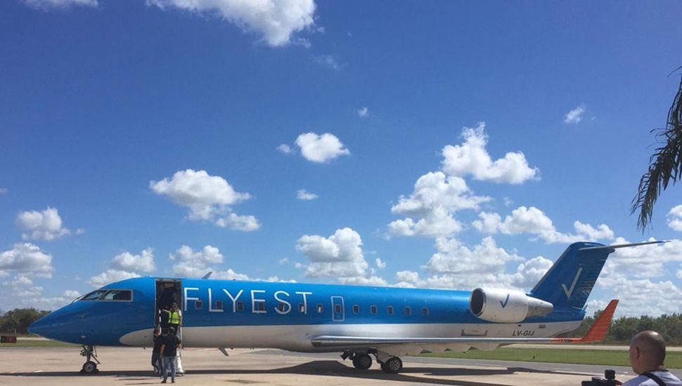 Este año, la empresa Flyest, con aviones Bombardier de 50 plazas, inauguró sus vuelos entre Buenos Aires, Sunchales, Reconquista y Santa Fe.