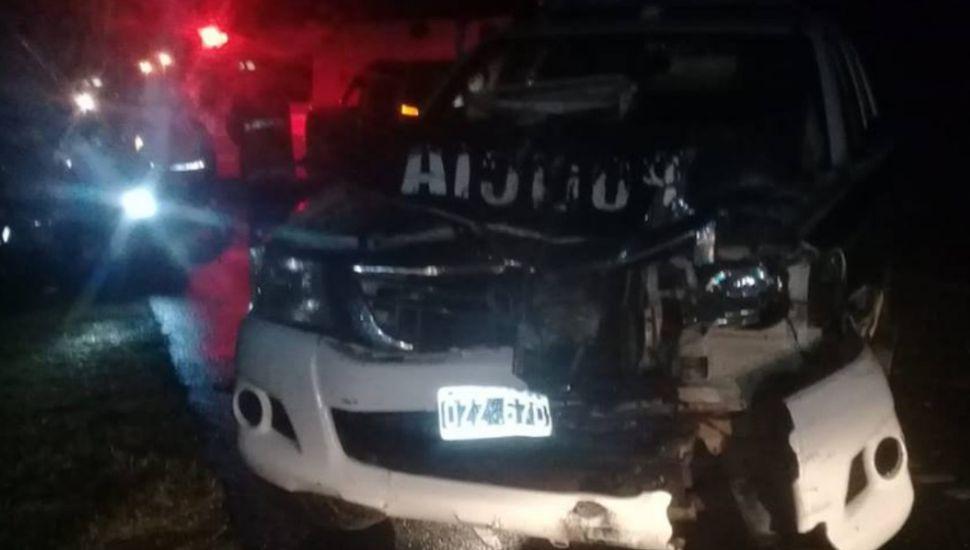 Chocó un patrullero de Chacabuco en plena persecución