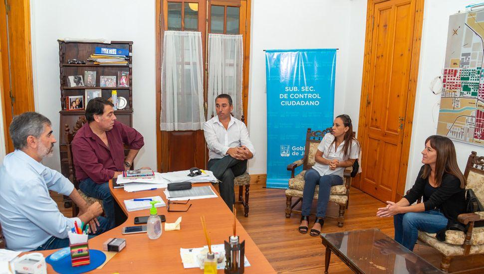 Autoridades de la cartera de seguridad del Gobierno de Junín y del gremio mantuvieron una reunión.