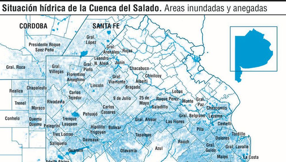 Causas y agravantes detrás de las inundaciones en la Provincia