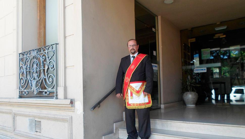 Hernán Calio, dirige el Gran Oriente Patriótico de la República Argentina.