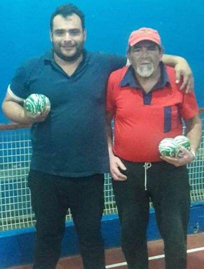 El ganador del torneo, Leonardo Policritti, y el subcampeón, Marcos Zapata.