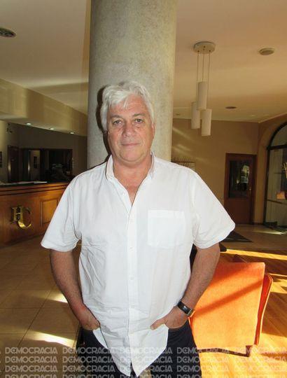 Orlando Moccagatta en una visita a Junín.