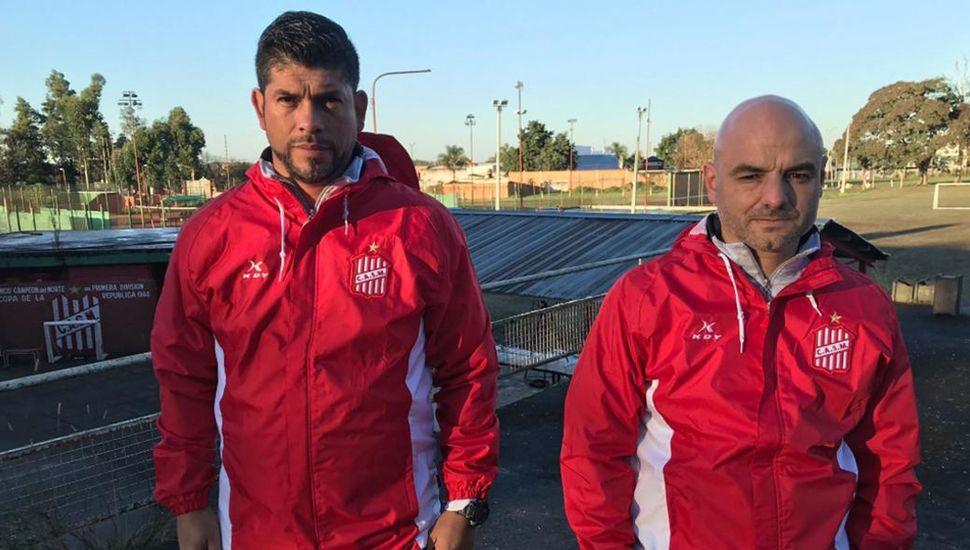 Sergio Gómez y Favio Orsi, dupla técnica de San Martín (T).