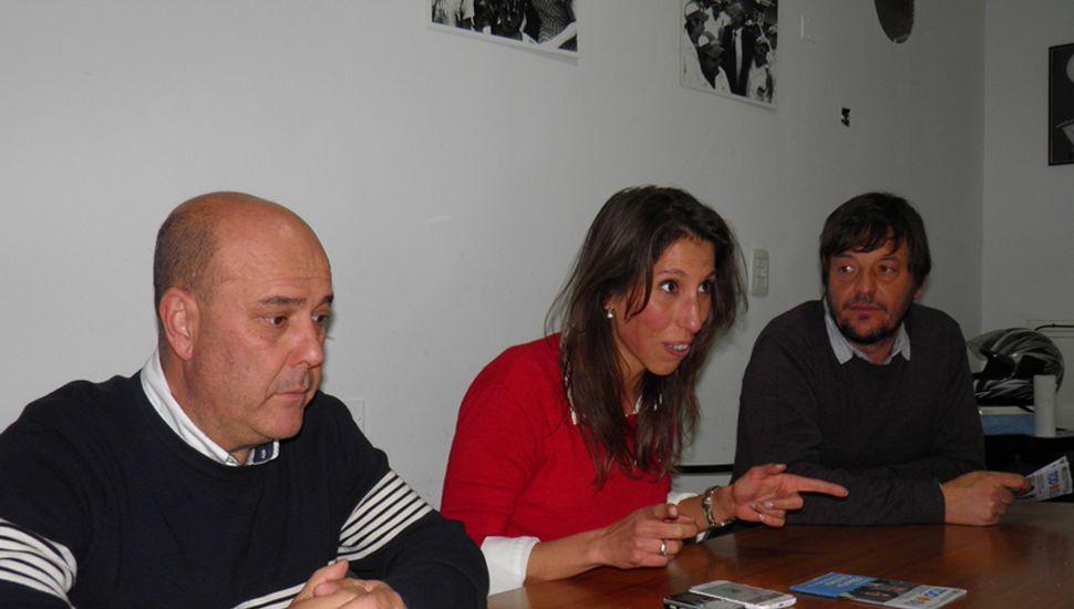 Gustavo Traverso, Victoria Muffarotto y Rodolfo Bertone.