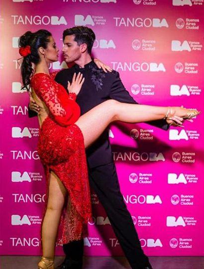 Juan Pablo Bulich y su pareja de baile.