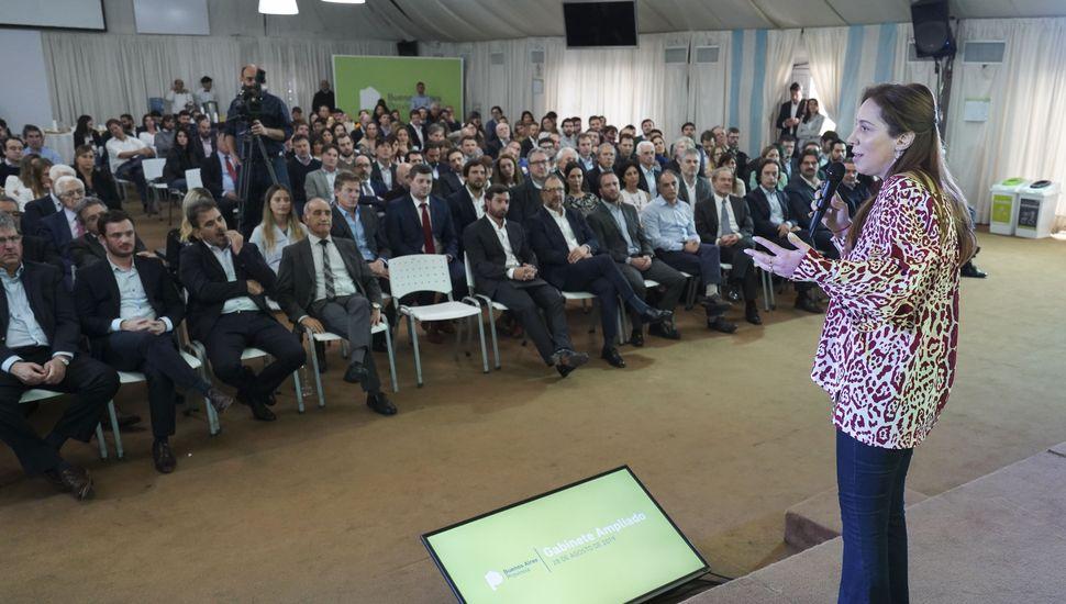 """Vidal aseguró que no va a darse """"por vencida"""" y pidió a su gabinete dar """"la pelea"""" por la reelección"""