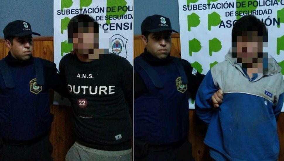 Los dos hombres que ingresaron a robar a la agencia de quiniela.