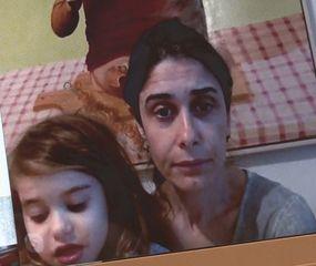 Luján Patitucci junto a su pequeña hija.