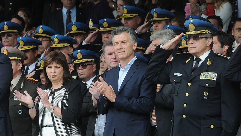 """Mauricio Macri está convencido del rumbo por el que lo lleva la ministra Bullrich en el tema de la """"doctrina de seguridad""""."""