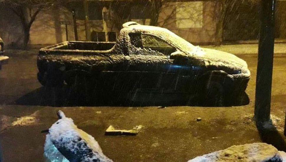 Nevó en Mar del Plata y habrá frío polar en el centro del país
