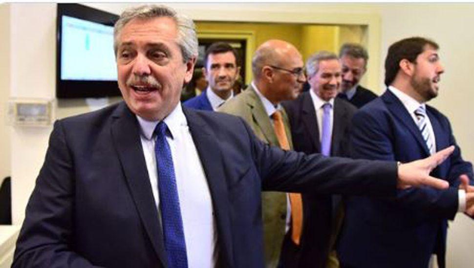 Alberto Fernández se reúne  con el presidente de España