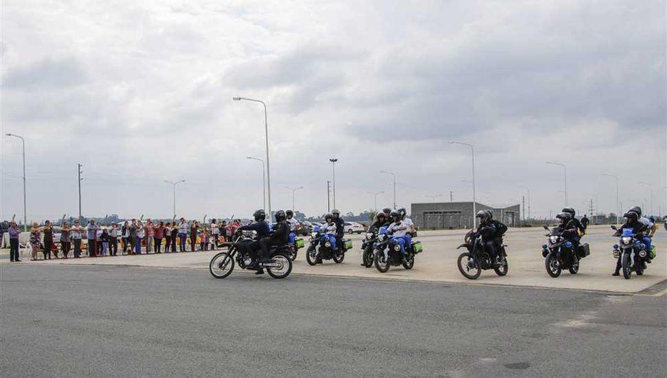 Policías motorizados se capacitaron para combatir a los motochorros.