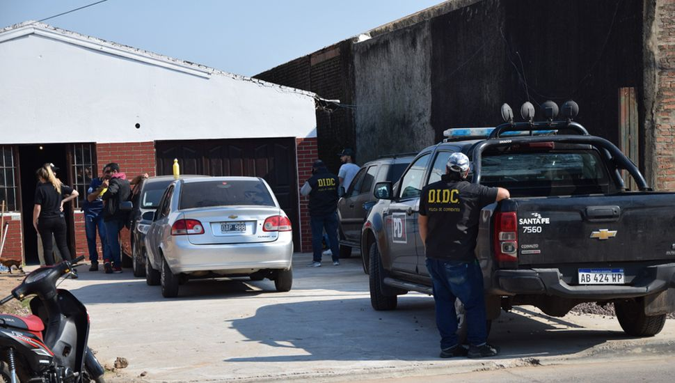 El allanamiento, se llevó  a cabo en Corrientes.