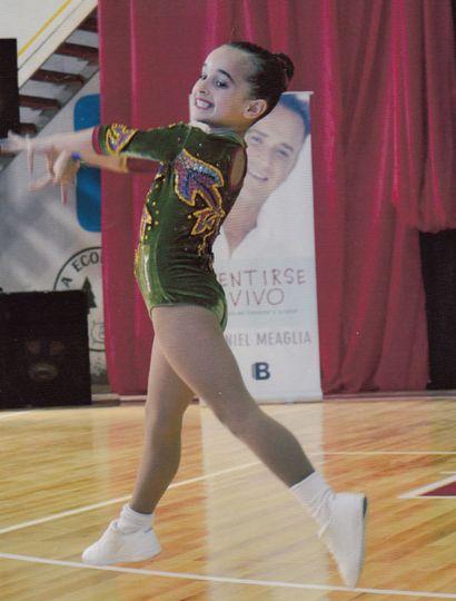 Nahia Grippa participará de las finales nacionales de aeróbica