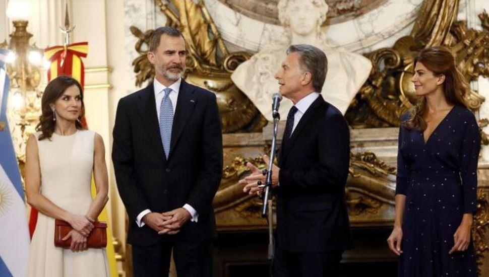 El Rey de España visitó la Casa Rosada y manifestó su apoyo al plan económico del Gobierno