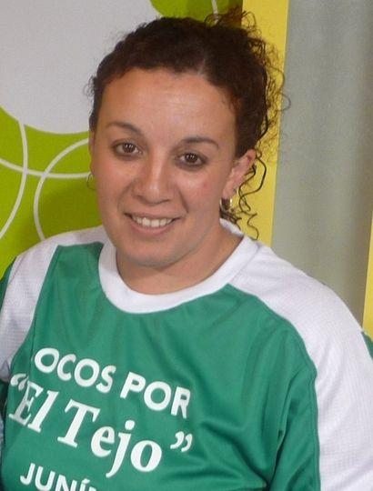 Andrea Durañy, jugadora y dirigente de tejo El Campito.
