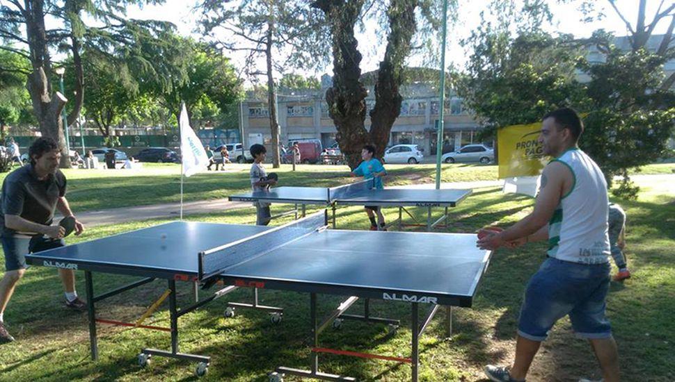 De la jornada en Plaza Marcilla participaron niños y adultos.