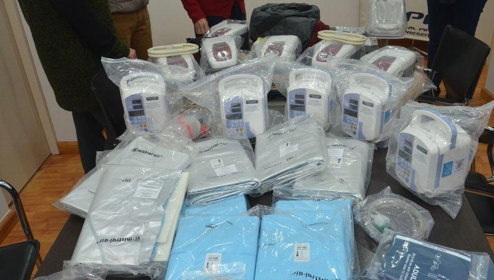 Los elementos adquiridos por la comisión cooperadora del Hospital Municipal, por un monto de 593.876 pesos.