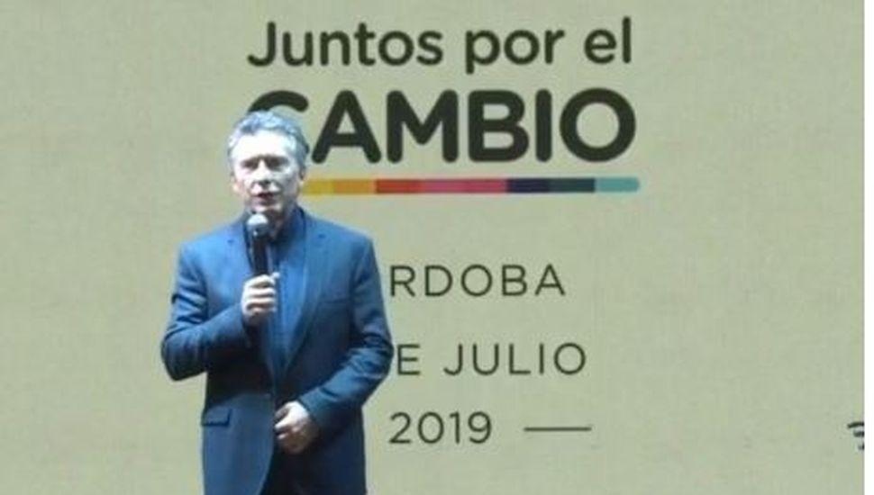 """Mauricio Macri lanzó su campaña en Córdoba: """"Es una elección bisagra"""""""