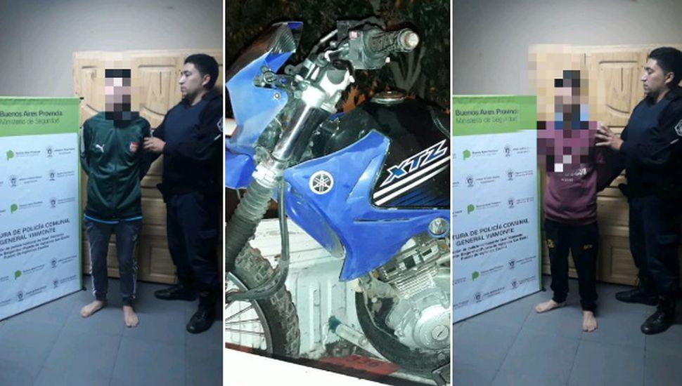 Dos jóvenes robaron una moto en un predio judicial de Los Toldos
