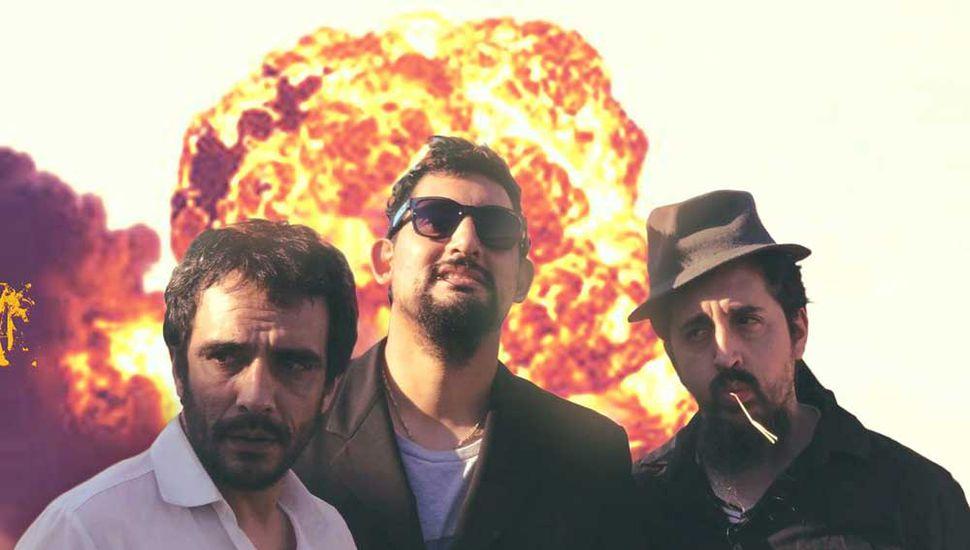 Los tres actores de Tetr4 Brick.