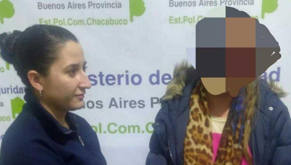 La mujer aprehendida en Chacabuco, ya que infrigió una medida cautelar.