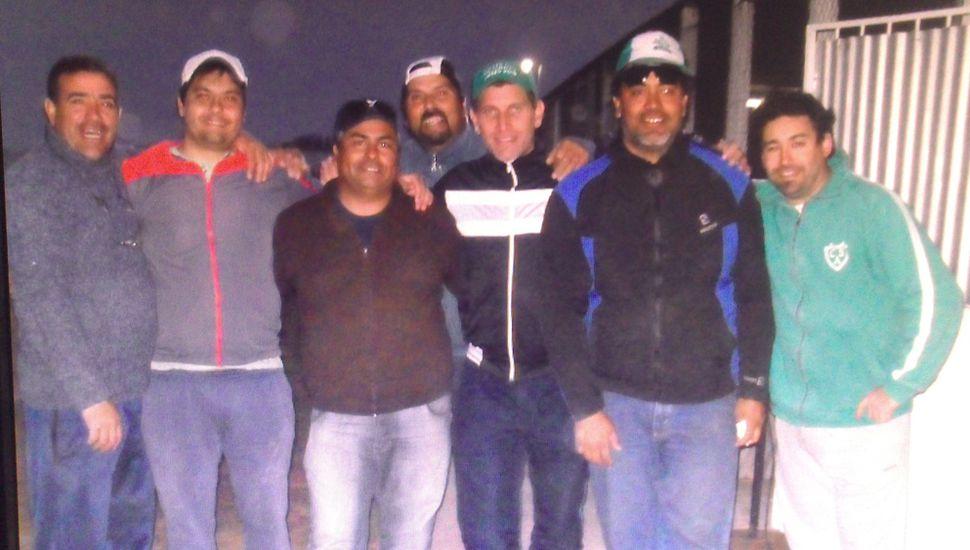 Participantes del concurso que ganaron los bragadenses Rolando Amarante y Rubén Tur.