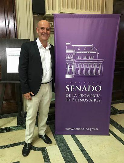 Gustavo Traverso, al asumir su banca esta semana en lugar del fallecido Aldo San Pedro.