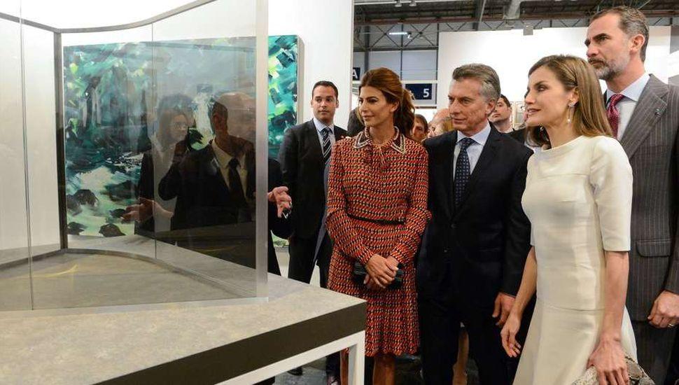Los reyes de España, junto al Presidente y su esposa.