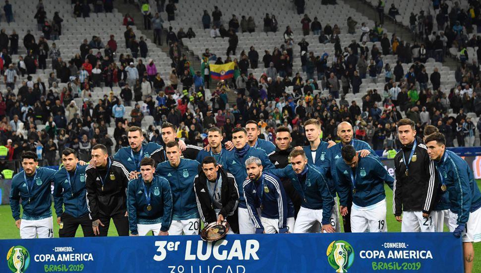 Premiación para el seleccionado argentino.