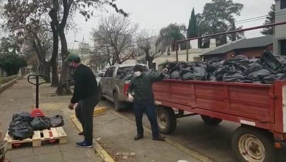 Entregaron más de mil bolsones de alimentos en Chacabuco