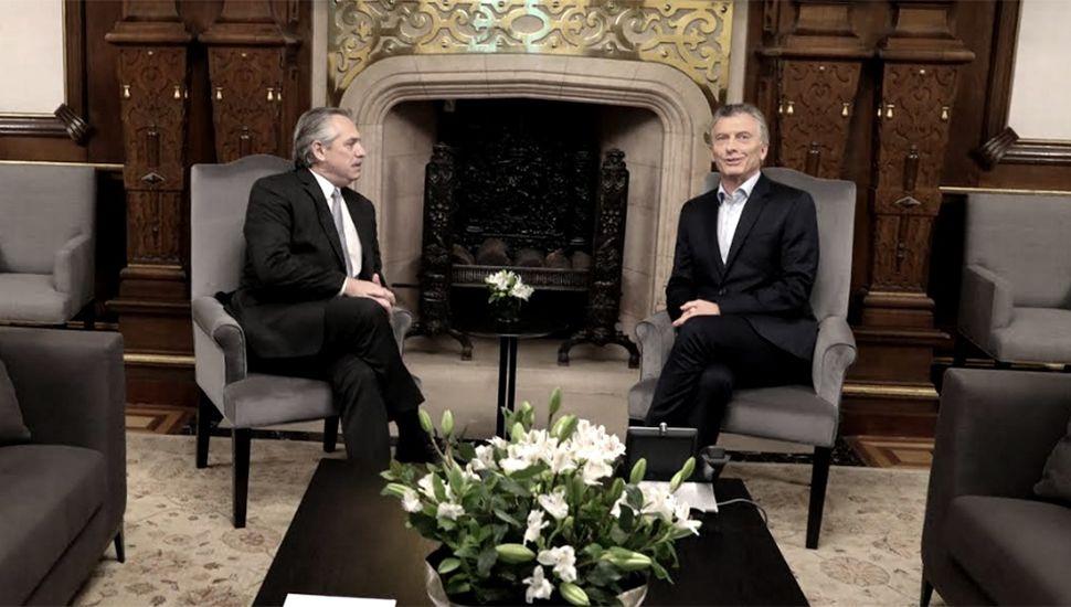Macri y Alberto Fernández se reunieron y pusieron en marcha la transición
