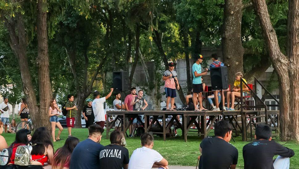 Jóvenes de Junín y la zona se sumaron a la propuesta.
