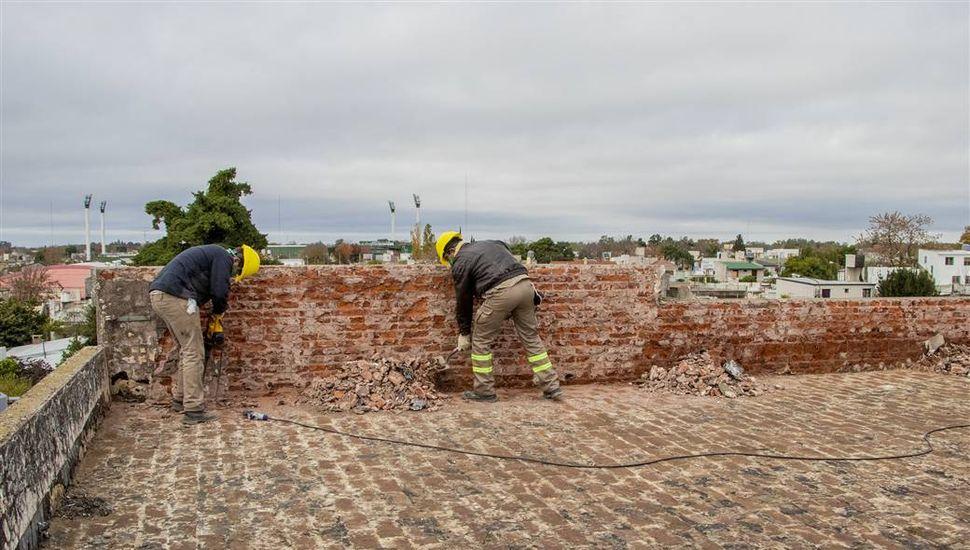 Iniciaron las obras en el edificio de la Escuela 12