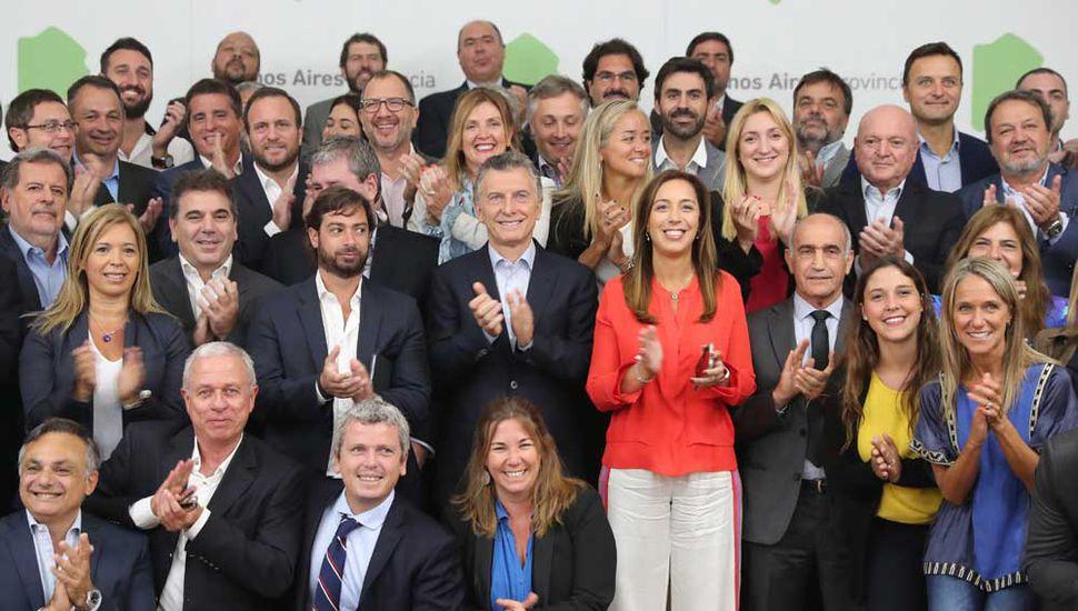 Macri y Vidal encabezaron ayer la reunión de gabinete en la gobernación bonaerense.